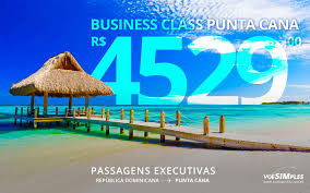 Executive ticket Copa Airlines or Avianca Colombia to Punta Cana for R $ 4,529.00 round trip with taxes!